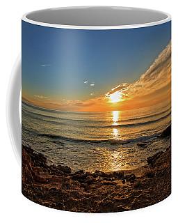 The Calm Sea In A Very Cloudy Sunset Coffee Mug