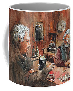 Coffee Mug featuring the painting The Knave Wins by Val Byrne