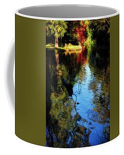 Coffee Mug featuring the photograph The Pond At Inglewood House by Jeremy Lavender Photography