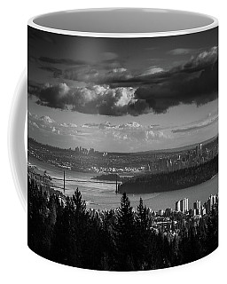 Vancouver Skyline In Black And White Coffee Mug