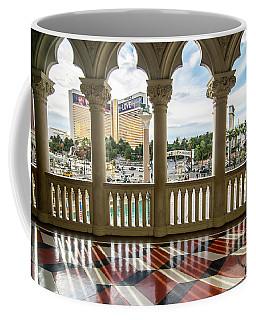 Coffee Mug featuring the photograph Views Of Las Vegas Nevada Strip In November by Alex Grichenko