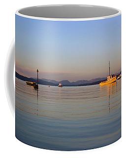 10/11/13 Morecambe. Fishing Boats Moored In The Bay. Coffee Mug