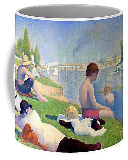 Bathers At Asnieres Coffee Mug