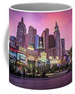 Coffee Mug featuring the photograph New York City Skyline In Las Vegas Nevada by Alex Grichenko