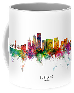 Portland Cityscape Coffee Mugs