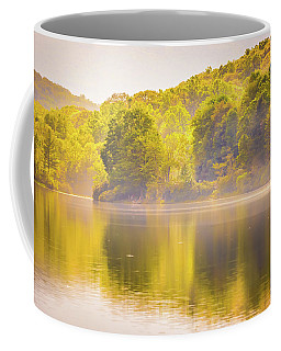 Coffee Mug featuring the photograph Julian Price Lake, Along The Blue Ridge Parkway In North Carolin by Alex Grichenko