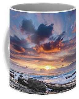 An Atmospheric Sunrise Seascape Coffee Mug