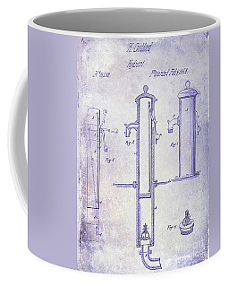 1858 Fire Hydrant Blueprint Coffee Mug