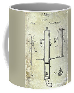 1858 Fire Hydrant Patent Coffee Mug