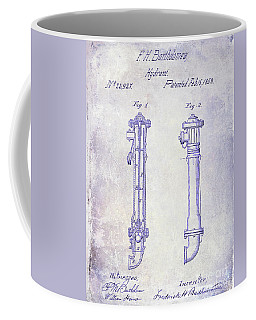 1859 Fire Hydrant Patent Blueprint Coffee Mug