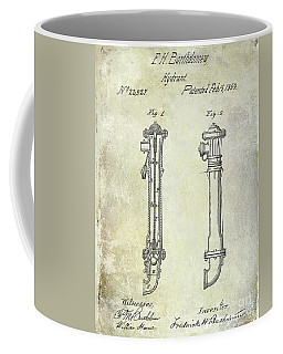 1859 Fire Hydrant Patent Coffee Mug