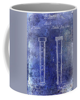 1860 Fire Hose Nozzle Patent Blue Coffee Mug