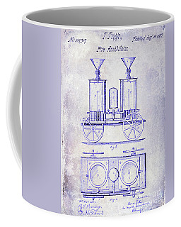 1870 Fire Truck Patent Blueprint Coffee Mug