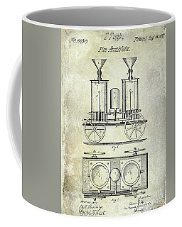 1870 Fire Truck Patent Coffee Mug