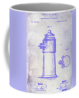 1871 Fire Hydrant Patent Blueprint Coffee Mug