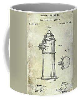 1871 Fire Hydrant Patent Coffee Mug
