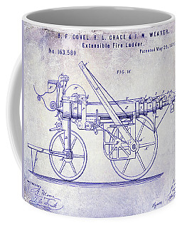 1875 Ladder Truck Patent Blueprint Coffee Mug