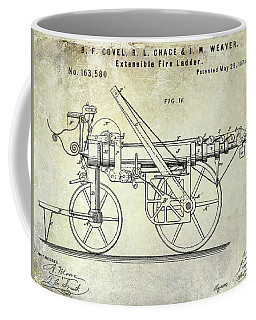 1875 Ladder Truck Patent Coffee Mug