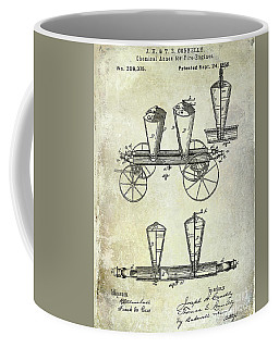 1878 Fire Truck Patent Coffee Mug