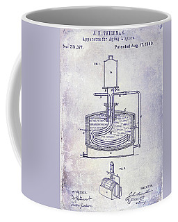 1880 Liquor Aging Patent Blueprint Coffee Mug
