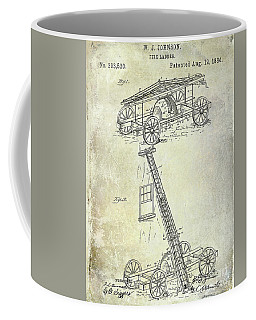 1884 Fire Ladder Truck Patent Coffee Mug