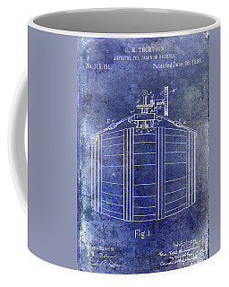 1888 Whiskey Or Beer Barral Patent Blue Coffee Mug