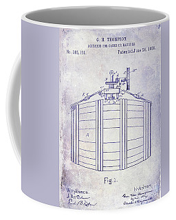 1888 Whiskey Or Beer Barral Patent Blueprint Coffee Mug