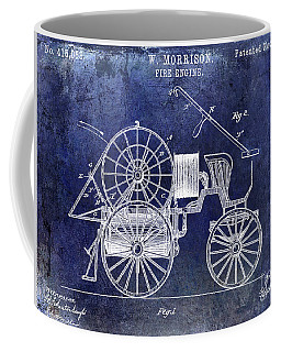 1889 Fire Engine Patent Blue Coffee Mug
