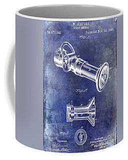 1896 Fire Hose Spray Nozzle Patent Blue Coffee Mug