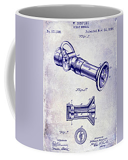 1896 Fire Hose Spray Nozzle Patent Blueprint Coffee Mug