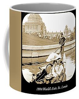 1904 Worlds Fair, Sighteeing Boat, Oarsman And Couple Coffee Mug