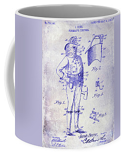 1905 Firemans Uniform Patent Blueprint Coffee Mug