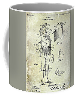1905 Firemans Uniform Patent Coffee Mug
