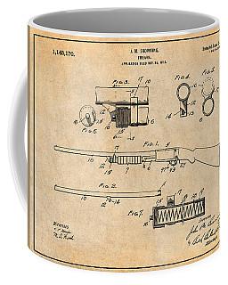 1913 Remington Model 17 Pump Shotgun Antique Paper Patent Print Coffee Mug