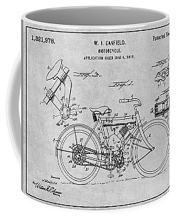 1919 W. J. Canfield Motorcycle Gray Patent Print Coffee Mug