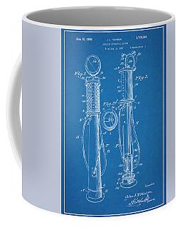 1930 J J Tokheim Gasoline Pump Blueprint Patent Print  Coffee Mug