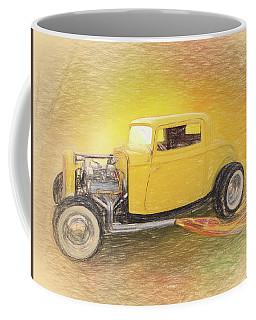 1932 Ford Coupe Yellow Coffee Mug