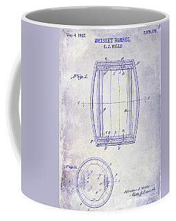1937 Whiskey Barrel Patent Blueprint Coffee Mug