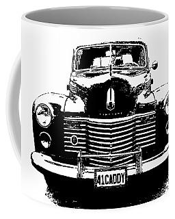Coffee Mug featuring the digital art 1941 Cadillac Front Blk by David King