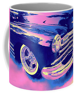 1948 Chevy Fleetline On The Down Low Blue Coffee Mug