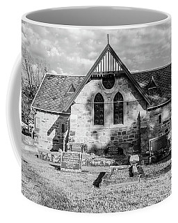 19th Century Sandstone Church In Black And White Coffee Mug