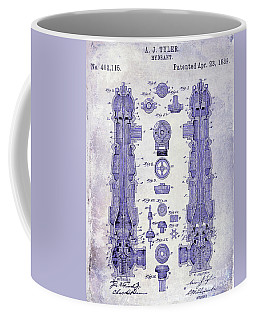 1889 Fire Hydrant Patent Blueprint Coffee Mug
