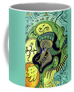 Coffee Mug featuring the digital art Anubis by Sotuland Art