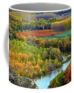 Autumn Colors On The Ebro River Coffee Mug