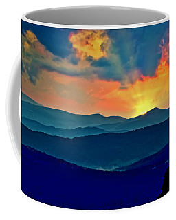Blue Ridge Mountains Sunset Coffee Mug