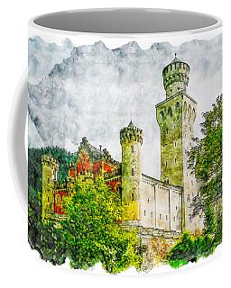 Castle Watercolor Drawing  Coffee Mug