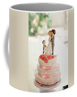 Desserts And Wedding Cake With Very Sweet Cupcakes At An Event. Coffee Mug