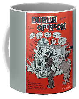 Coffee Mug featuring the painting Feb 1938 Dublin Opinion by Val Byrne