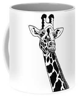 Giraffe - Ink Illustration Coffee Mug