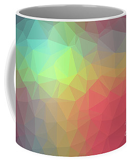 Gradient Background With Mosaic Shape Of Triangular And Square C Coffee Mug